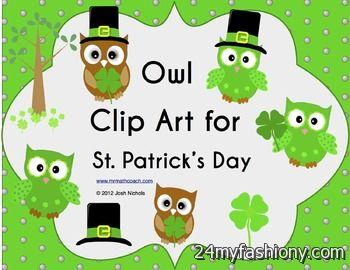 St. Patrick's Day Owl Clip Art images 2016-2017 | B2B Fashion