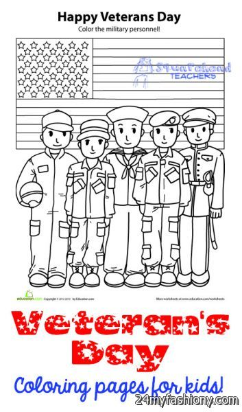 Thank You Veterans Day Coloring Pages images 2016 2017