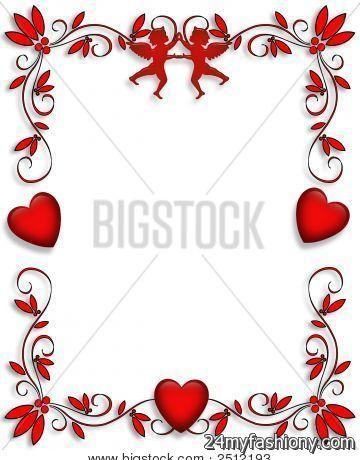 valentine�s day clip art borders � cliparts