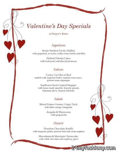 Valentines Day Menu Ideas Images Looks B2b Fashion