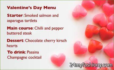 valentines day menu ideas - Valentine Menu Ideas