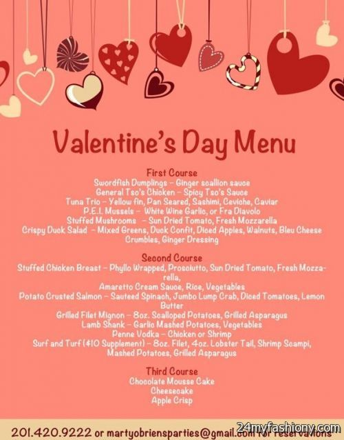 Valentines Day Menu Images Looks B2b Fashion