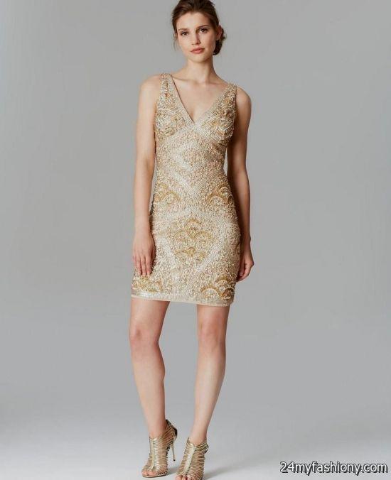 aidan mattox sequin dress gold 2016-2017   B2B Fashion