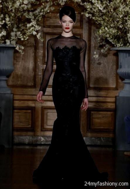 All black lace wedding dress