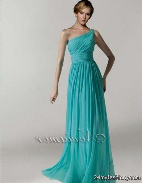 aqua blue one shoulder bridesmaid dresses 20162017 b2b
