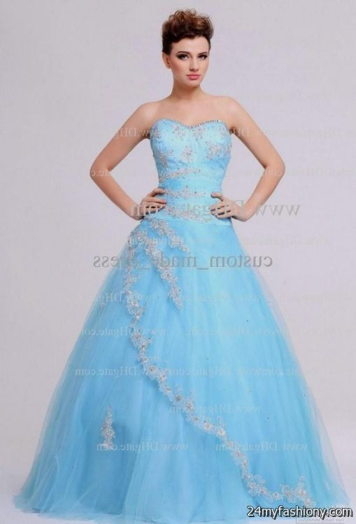 2e6a634b2c2 baby blue and white quinceanera dresses looks