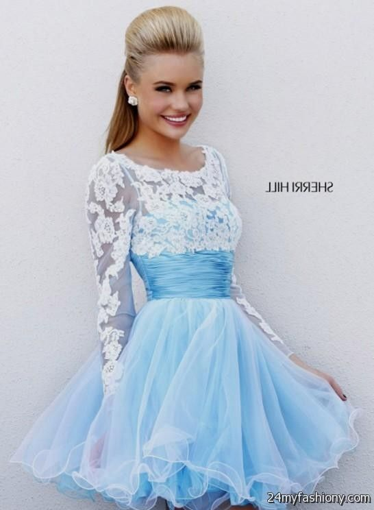 baby blue winter formal dresses 2016-2017 | B2B Fashion