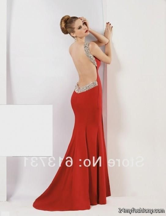 The gallery for --> Red Backless Prom Dresses