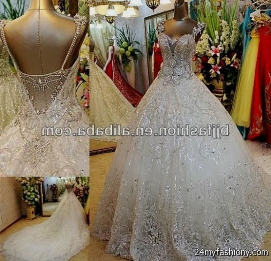 Ball Gown Wedding Dresses 2017 With Bling : You can share these ball gown wedding dresses with sleeves and bling