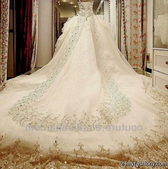 Wedding Dresses 2017 Ball Gown With Bling High Cut