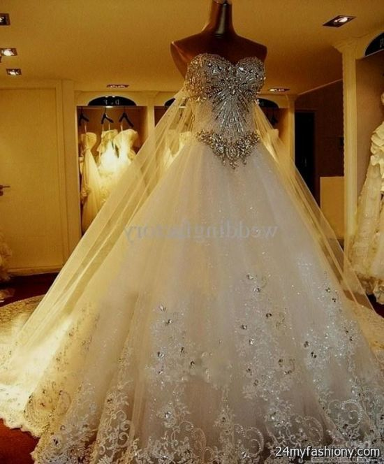 Beautiful Ball Gown Wedding Dresses: Ball Gown Wedding Dresses With Sleeves And Bling 2016-2017