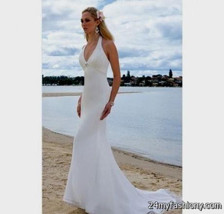 Beach wedding dresses halter neck wedding dresses asian for Halter wedding dresses beach