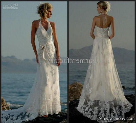 Beach Wedding Dresses 2017 : Beach wedding dress halter b fashion