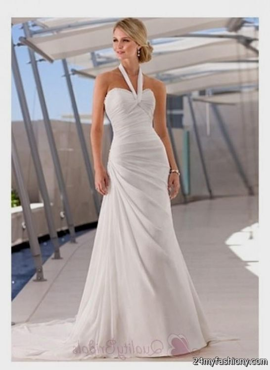 beach wedding dress halter 2016 2017 b2b fashion