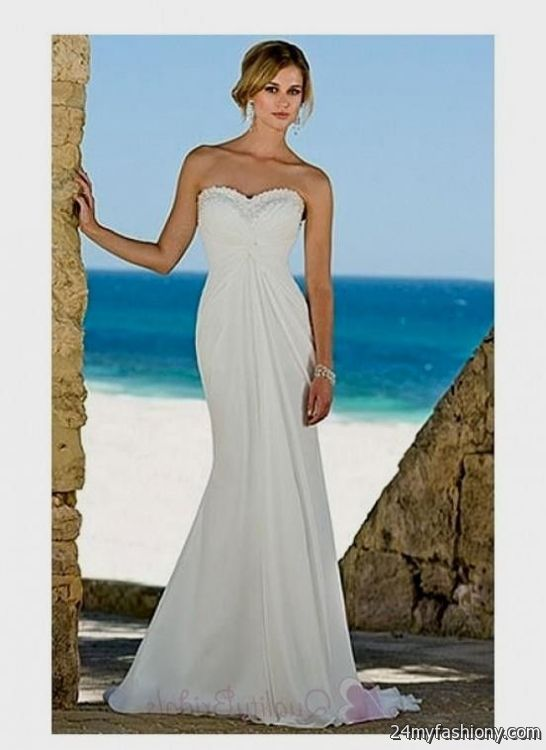 Beach Wedding Dresses 2017 : Beach wedding dress sweetheart  ? b fashion