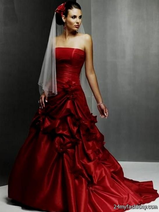Beautiful black and red wedding dresses 2016 2017 b2b for Red and black wedding dresses