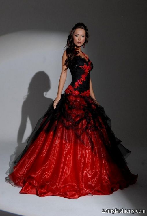 beautiful black and red wedding dresses 2016 2017 b2b fashion