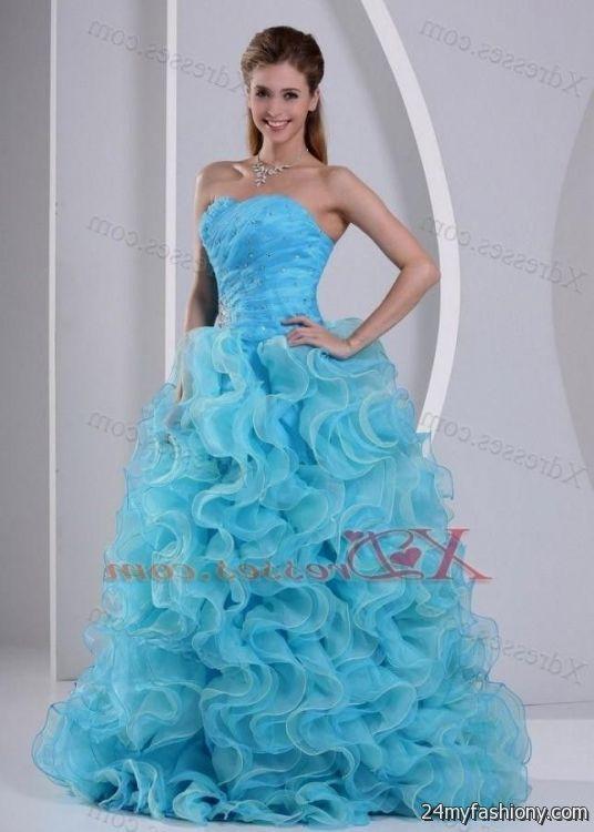 Beautiful blue prom dresses
