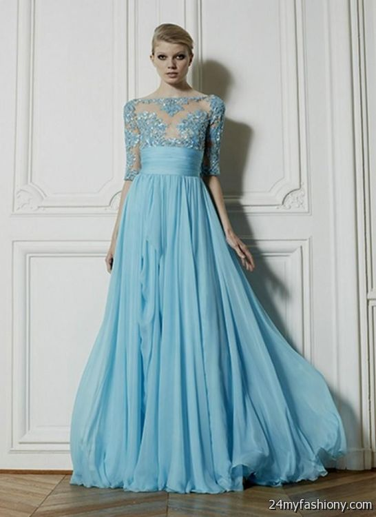 beautiful long dresses with sleeves 20162017 187 b2b fashion