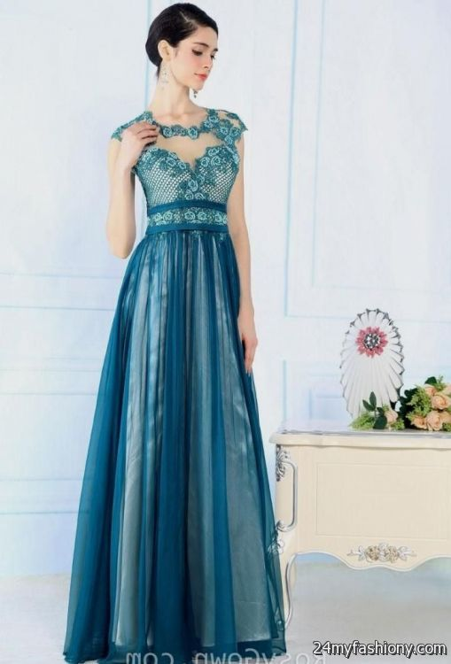 Beautiful long dresses with sleeves 2016-2017 » B2B Fashion