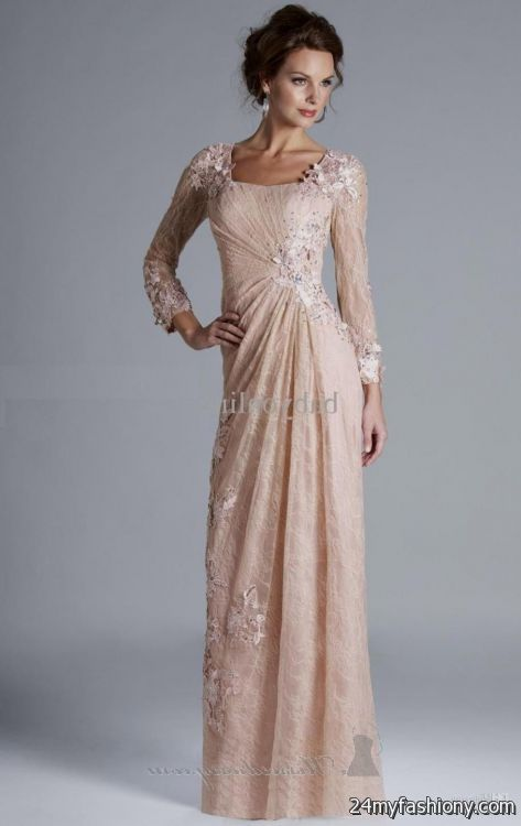 Beautiful long dresses with sleeves 2016-2017 » B2B Fashion