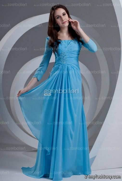 Beautiful Long Dresses With Sleeves 2016 2017 B2b Fashion