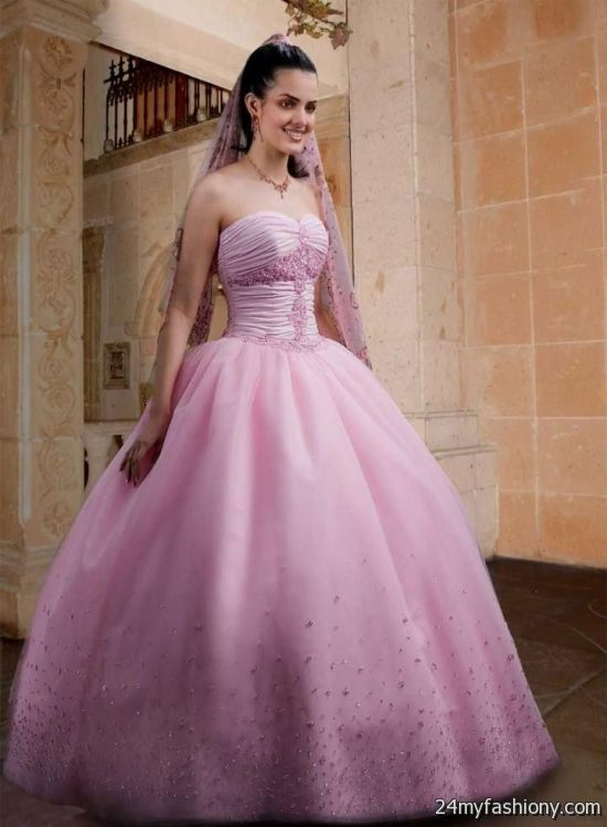 beautiful pink princess wedding dress 2016-2017