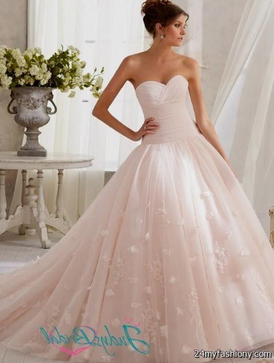 beautiful pink princess wedding dress 2016-2017 | B2B Fashion