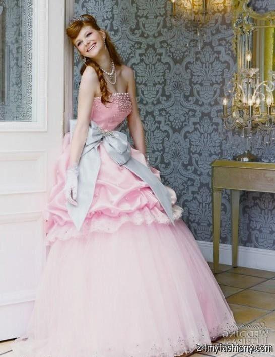 beautiful pink princess wedding dress 2016-2017   B2B Fashion  Beautiful Pink Princess Dresses
