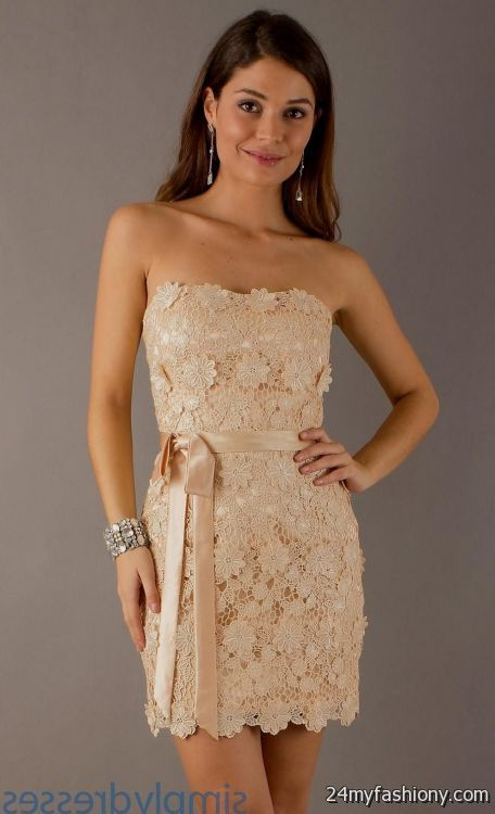 Can i wear a short dress to prom gown and dress gallery for Beige short wedding dresses