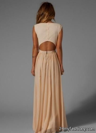 Beige maxi dress 2016 2017 b2b fashion for Beige dress for wedding guest
