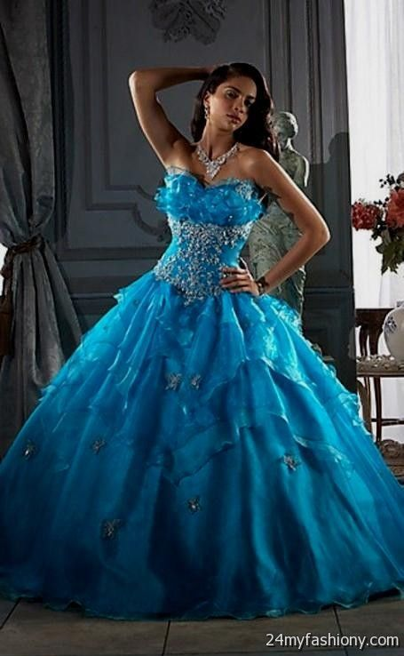 Black and baby blue wedding dresses 2016 2017 b2b fashion for Blue and black wedding dresses