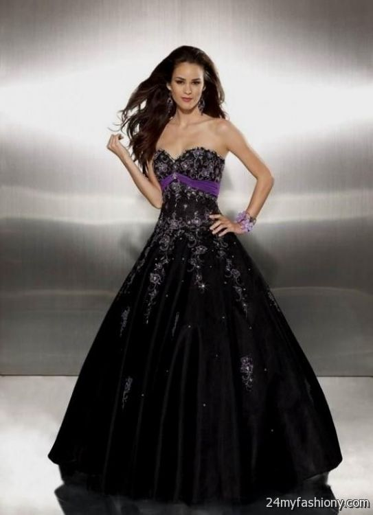 Purple Black Prom Dresses - Formal Dresses
