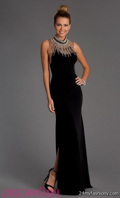 black and gold halter prom dress 2016-2017 » B2B Fashion