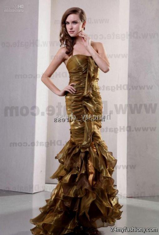 black and gold mermaid prom dress 2016-2017 » B2B Fashion