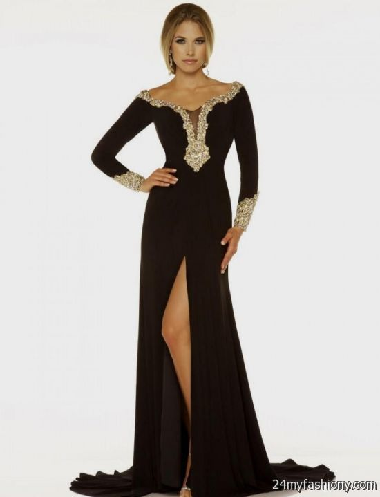 black and gold prom dresses with sleeves 2016-2017 » B2B Fashion
