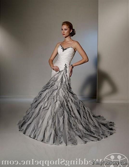 Black And Gray Wedding Dresses 2016 2017 B2b Fashion