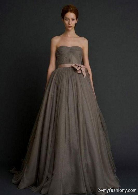 Black and gray wedding dresses 2016 2017 b2b fashion for Dark grey wedding dresses