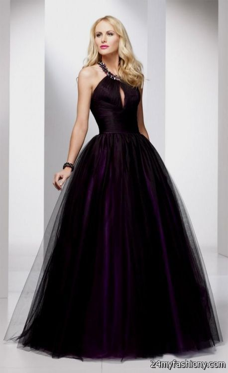 Black And Purple Ball Gowns Looks B2b Fashion