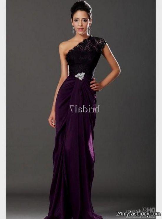 Black And Purple Lace Wedding Dresses Looks B2b Fashion