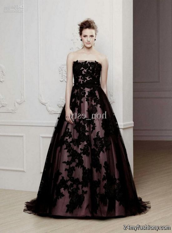 Purple And Black Wedding Gowns The