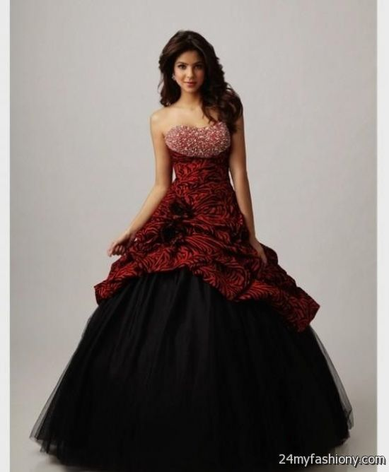 black and red ball gowns 2016-2017 | B2B Fashion