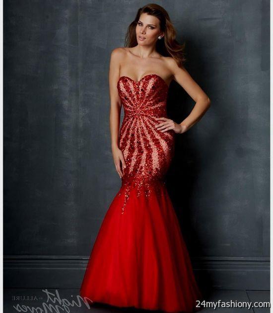 Black And Red Mermaid Wedding Dresses Looks