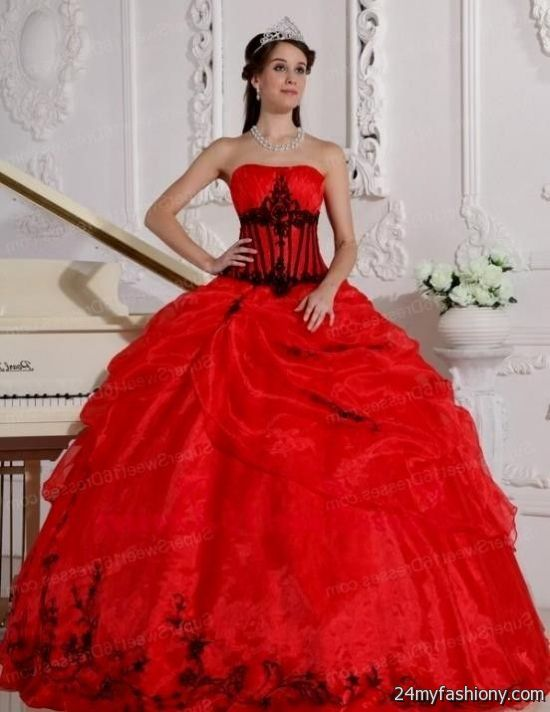 Black And Red Sweet 16 Dresses 2016-2017