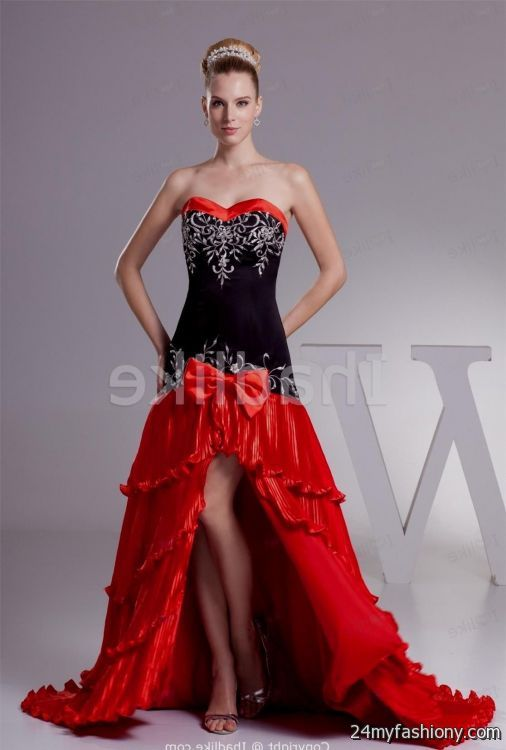 Unique Black And Red Wedding Dresses 107