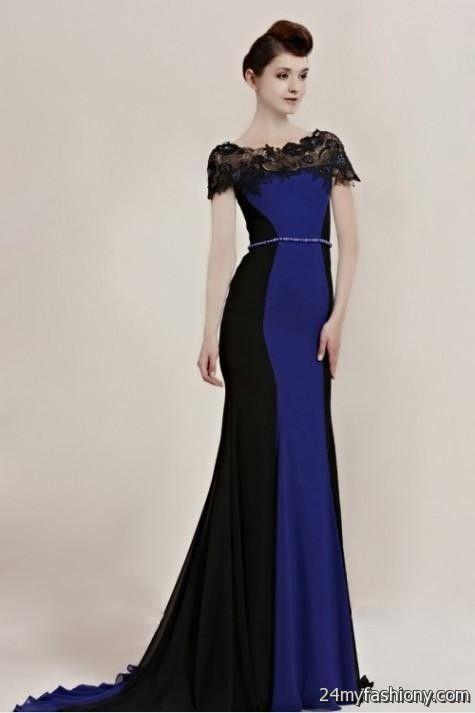 black and royal blue prom dress 20162017 b2b fashion