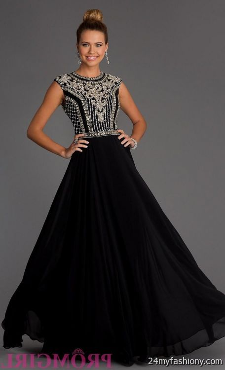 black and silver evening gowns 2016-2017 | B2B Fashion
