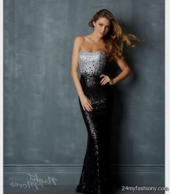 black and silver prom dresses 2014 – Little