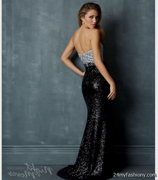 black and silver sequin prom dress 2016-2017 » B2B Fashion