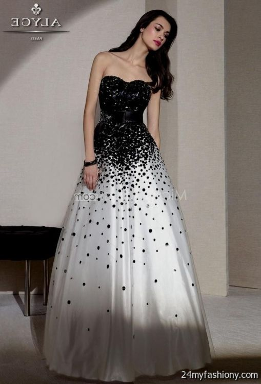 Black And White Ball Gowns For Prom Looks B2b Fashion